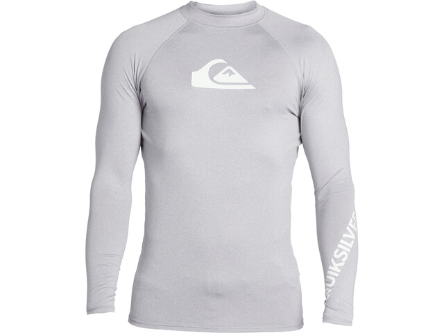 Quiksilver All Time T-shirt Manches longues Homme, sleet heather